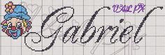 Ângela Bordados: nomes com G Girl Names, Boy Or Girl, Projects To Try, Cross Stitch, Cross Stitch Patterns, Boy Names, Cross Stitch Letters, Monogram Alphabet, Children Pictures