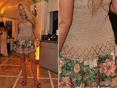 Vestido de Pintura no crochê Adriane Galisteu -
