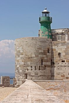 Lighthouse in Siracusa, Sicily, Italy