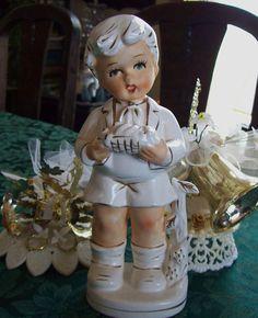 boy figurine vintage child figurine made in Japan