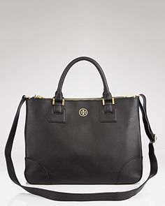 tory burch robinson double zip tote.. Just got this and love it. It has 3 zip compartments and tons of room inside. Also fits an IPAD..:)