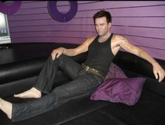 Robbie Williams at Madame Tussauds in Amsterdam