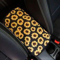 Wrangler Accessories, Cute Car Accessories, Interior Accessories, Car Console, Center Console, Sunflower Accessories, Car Interior Decor, Sunflower Pattern, Cute Cars