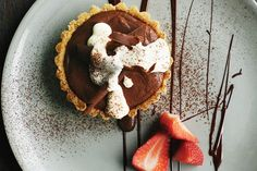 This rich chocolate tart is surprisingly easy to make for such an indulgent dessert.
