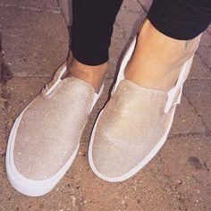 00cd9830b8 Fancy feet 💫  shoegame  sparkle  glitter  shoelover  vans  simple