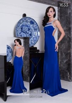 Pia Michi 1633 Backless Gown, PIA MICHI DESIGNER GOWNS, Prom dresses, Prom Dress, Evening wear
