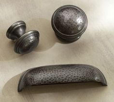 hammered nickel hardware kitchen - Google Search