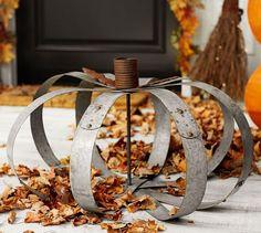 Make Your Own Metal Pottery Barn Pumpkins | HomeTalk.com