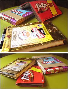 How to Make Notebooks with Food Packaging and Old Paper