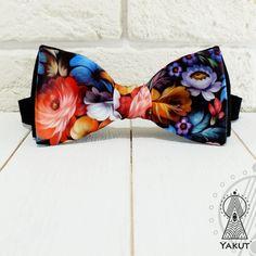 Bow Tie Russian pattern Bowtie floral pattern от BowTieYAKUT