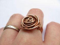 Cool DIY Ring! Metal Rose Ring -21 Jewelry Craft Projects Tutorials  http://diyready.com/handmade-jewelry-diy-bracelets-jewelry-making-ideas/