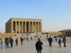 Anitkabir, a grand memorial devoted to the father of modern Turkey.