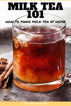 How to make milk tea at home with this easy DIY recipe. Once you've mastered milk tea, you can add boba, matcha and any other flavoring you can think of. Stop spending your money at Starbucks and make your own hot or iced milk tea at home. Milk Tea Recipes, Sweet Tea Recipes, Drink Recipes, Starbucks, Southern Sweet Tea, Ice Milk, Tea Powder, Tea Latte, Brewing Tea