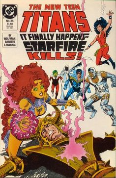 Starfire is from a warrior race on her native world. She can only hide her instincts under a bubblegum - er, head personality for so long!