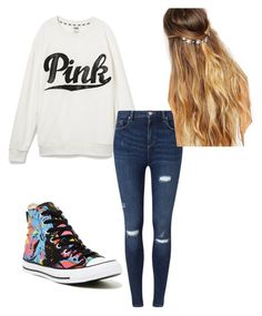 Outfit for school by sarayxg on Polyvore featuring polyvore, fashion, style, Victoria's Secret, Miss Selfridge, Converse, Johnny Loves Rosie and clothing