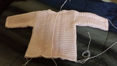 WIP; beginning of my first layette for my 7th &/or 8th grandchild.