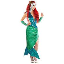 buttinette Meerjungfrau Kostüm 'Serena', grün/türkis