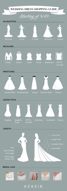 """We're here to help you pinpoint the wedding dress silhouette that brings out your best. Let us match you with the perfect dress silhouette to help you say """"I do."""" #wedding dresses #bridal gowns #lace wedding dresses #wedding #wedding dress guide"""