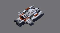 Space 1999 Asteroid Belt survey ship. By Nick macarty.