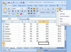 How to use functions in MS-Excel.  I hope this helps as I have massive issues with spreadsheets.  lol