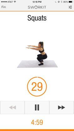 Squats: un exercice simple à réaliser et idéal pour muscler l'ensemble des cuisses et les fessiers ! #5min #quadriceps #squats