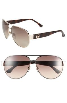 MICHAEL Michael Kors 'Reese' 60mm Metal Aviator Sunglasses available at #Nordstrom