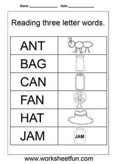 3-letter words Worksheets