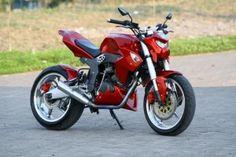 Modifikasi Street Fighter Motor Tiger Merah