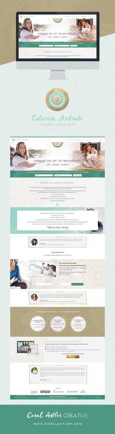 Catarina Andrade Website Design || Coral Antler Creative