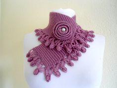 Del cielo magenta neckwarmers otoño lana tejido a por likeknitting