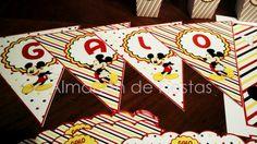 Banderín con nombre #Mickey para Galo. #FiestasInfantiles