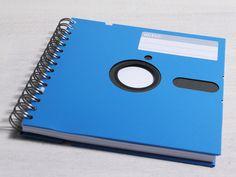"Retro Disketten Notizbuch 5,25 "" blau von emilydesign auf DaWanda.com"