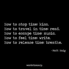 How to stop time: kiss