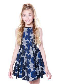 Camryn Navy Floral- Tween Girl Dresses - MissBehaveGirls.com