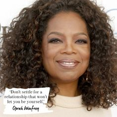 Wise and inspiring words from Oprah on relationships. Read more at: redonline.co.uk.