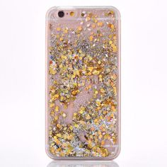 Beautiful cascading gold glitter and confetti flakes make this case amazing! High Quality Protective Hard Case Easy Access to Ports