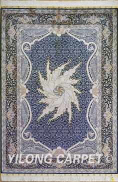 Blue Silk Oriental Rug Round Silk Carpets Materials: Silk Dyeing: vegetable dyeing Technology: Hand Knotted Size: 2'x3' -14'x20'    Fit for: bedroom, living room, dining area, foyer, back door, porch, office etc. … Email: alice@yilongcarpet.com  WhatsApp/Tel/Wechat: +86 156 3892 7921 #pakistanisilkcarpet #chinesewoolcarpet #handmadesilkcarpet