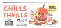 Wendy's: $1 Halloween Jr. Frosty Coupon Booklet – Hip2Save