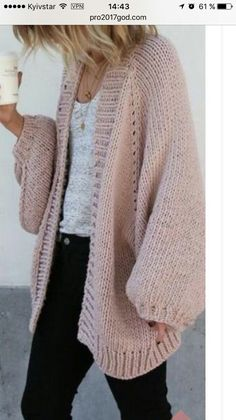 ideas knitting fashion 2018 for 2019 Crochet Cardigan, Knit Crochet, Casual Outfits, Fashion Outfits, Fashion 2018, Knit Fashion, Cozy Sweaters, Knitting Sweaters, Knitting Designs
