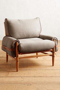 Belgian Linen Rhys Chair - anthropologie.com