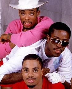 "Whodini, hip-hop trio consisting of (t-b) vocalist John ""Ecstasy"" Fletcher, vocalist/lyricist Jalil Hutchins, & turntablist Drew ""Grandmaster Dee"" Carter. The group was among the 1st in hip hop to cultivate a high-profile national following, & made significant inroads on urban radio. Their oft-sampled songs, groundbreaking in hip-hop culture, include Friends, Freaks Come Out At Night, One Love, Be Yourself, Five Minutes of Funk, Magic's Wand, Funky Beat, The Haunted House of Rock, & Big…"