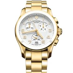 VICTORINOX CHRONO CLASSIC Gold from Christopher William Jewelers.