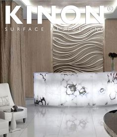 Corinthia utilizes Kinon resin surfaces as gorgeous decorative surface material. Kinon is a unique handmade product used by interior designers worldwide for residencies, retail spaces, hotels and more. The Kinon Surface Design website is perfect for finding inspiration and ordering a sample of Kinon. #materials #interiordesign #modern