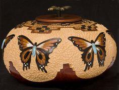 Gourd Art by Carrie Dearing $200