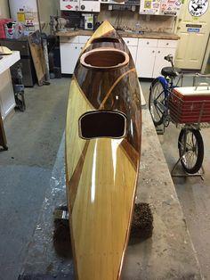 Almost done with latest build Wood Canoe, Wooden Kayak, Canoe Boat, Canoe And Kayak, Kayak Fishing, Kayaks, Canoa Kayak, Classic Wooden Boats, Wooden Words