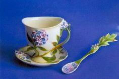 Forget Me Not - Franz Porcelain Tea Cups & Saucers | Precious Possessions