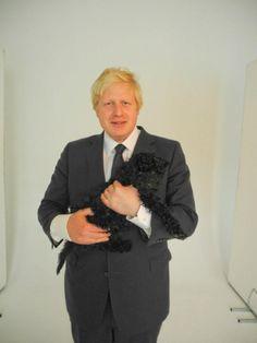 Mayor, Borris Johnson pictured in with Boo the studio dog. Mayor Of London, Prime Minister, Famous Faces, Pakistan, Politics, Dog, Studio, Modern