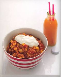 Kid-Friendly Vegetarian Chili Recipe #recipes