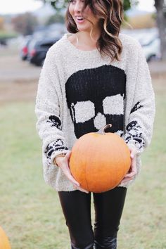 This sweater is PERFECT for October and Halloween!!!