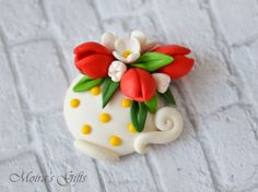 Polymer Clay Projects, Polymer Clay Jewelry, Marzipan, Polymer Clay Embroidery, Fondant, Clay Design, Pasta Flexible, Clay Flowers, Cold Porcelain
